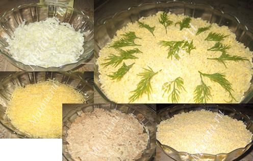 мимоза салат рецепт без картошки и моркови