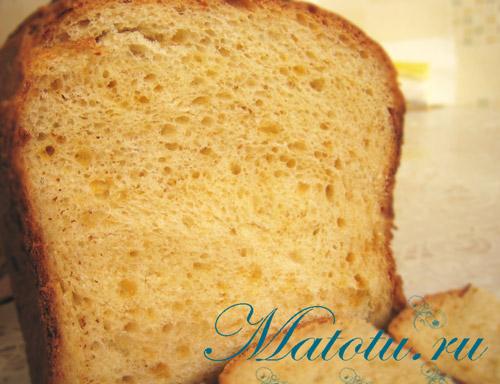 Хлеб с сыром и чесноком в хлебопечке