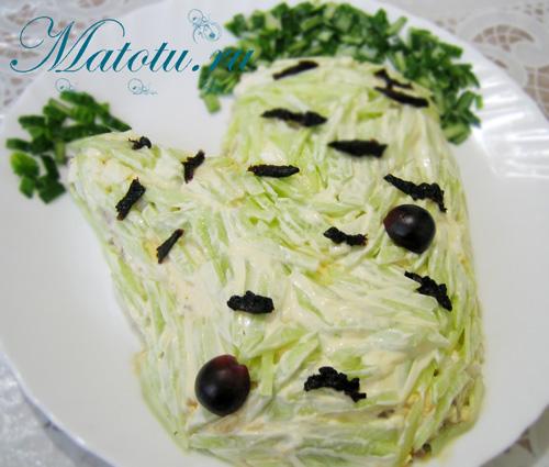 "Салат ""Березка"" с черносливом"