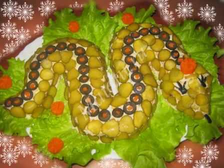 "Рецепт салата ""Змея"""