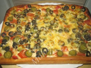 Пицца с курицей и овощами – кулинарный рецепт