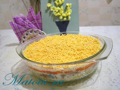 """Салат """"Мимоза"""" с картошкой"""