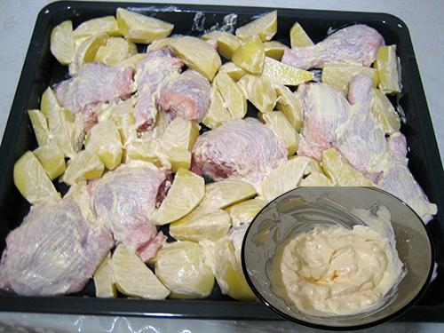 Рецепты курица с картошкой духовке с фото пошагово