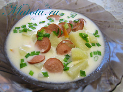 Суп из плавленого сырка – кулинарный рецепт