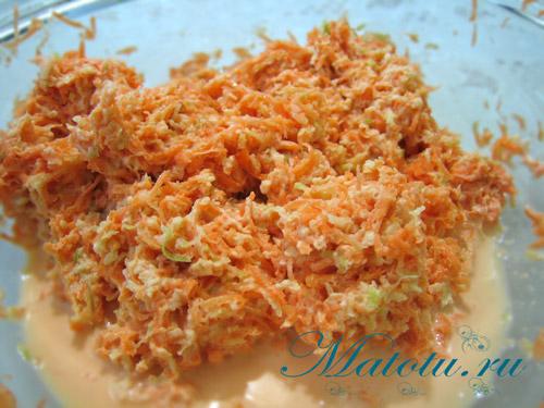 Салат с редькой и морковью