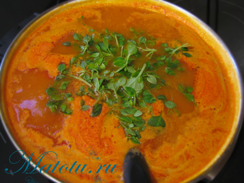 "Суп ""Дюбарри"" – кулинарный рецепт"