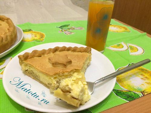Пирог с плавлеными сырками