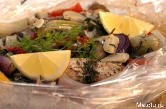Рецепт скумбрии, запеченной с овощами