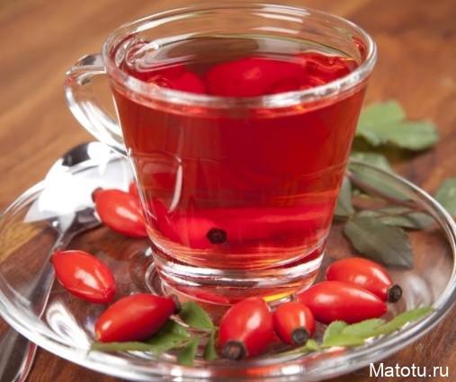 Рецепт чая из шиповника с медом